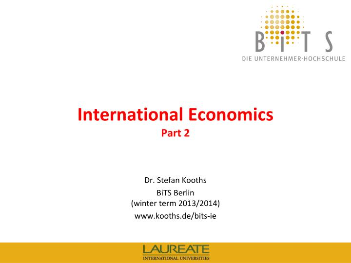 International economics part 2