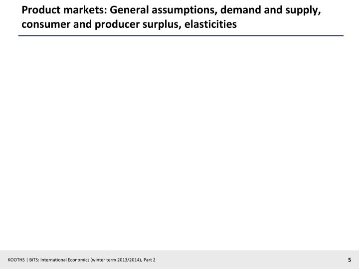 Product markets: