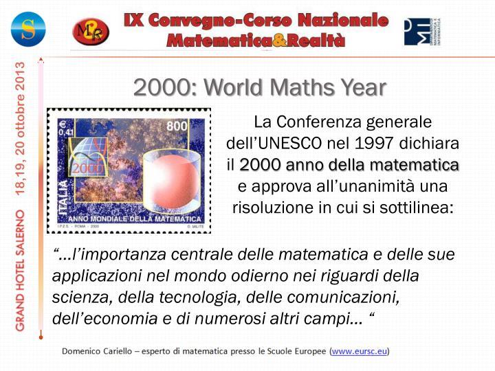 2000: World