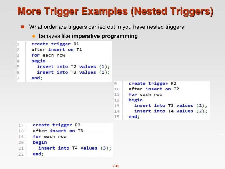 More Trigger Examples