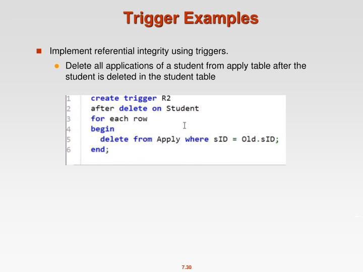 Trigger Examples