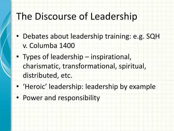 The Discourse of Leadership