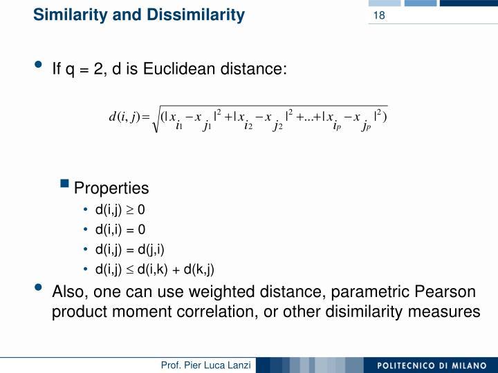 Similarity and Dissimilarity