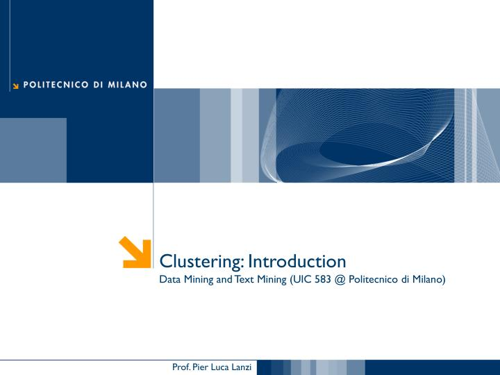 Clustering: Introduction