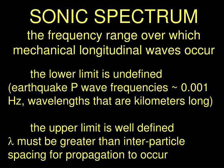 SONIC SPECTRUM