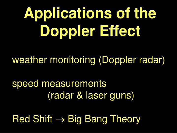 Applications of the Doppler Effect