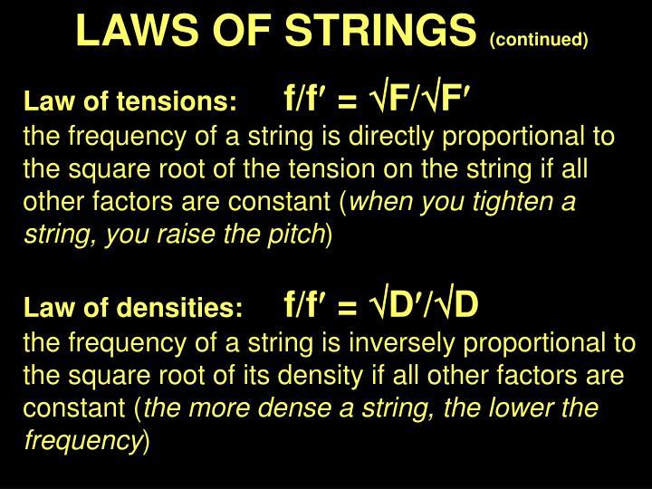 LAWS OF STRINGS