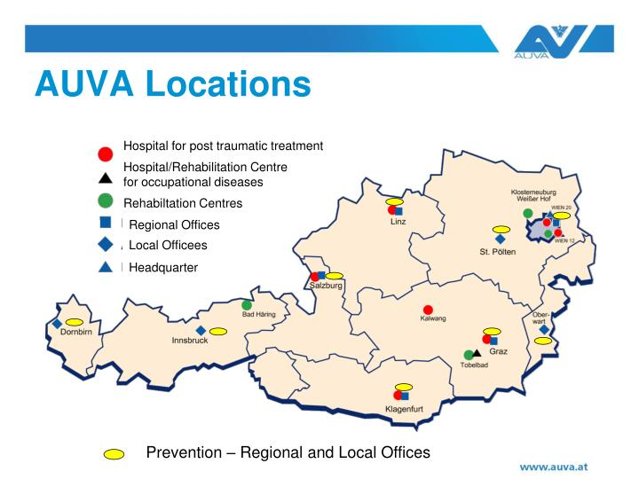 AUVA Locations