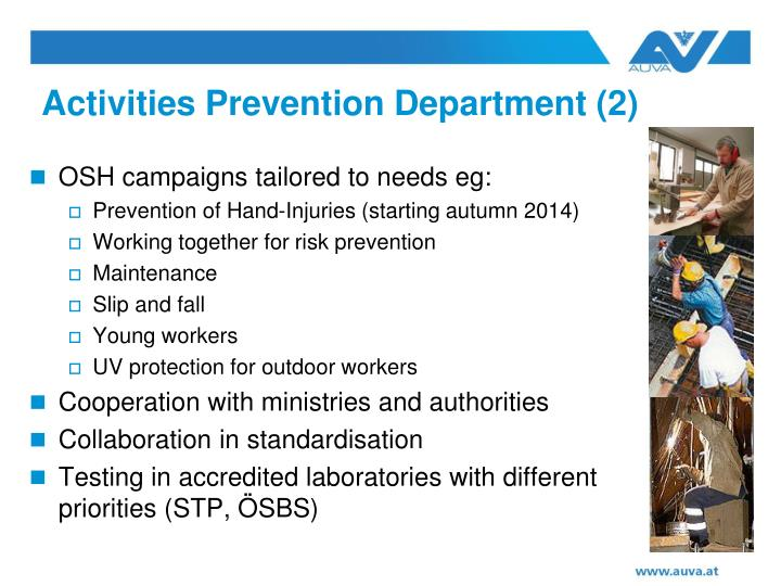 Activities Prevention Department (2)