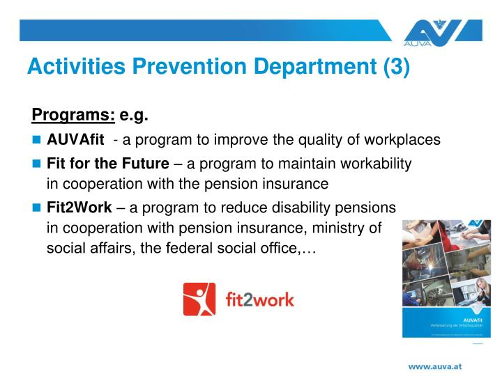Activities Prevention Department (3)