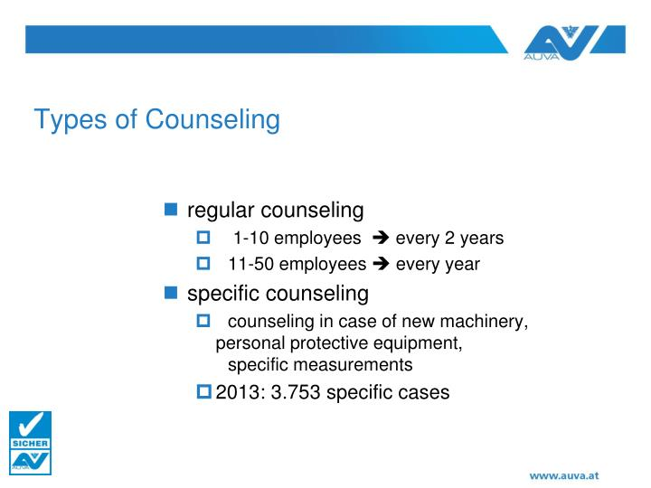Types of Counseling
