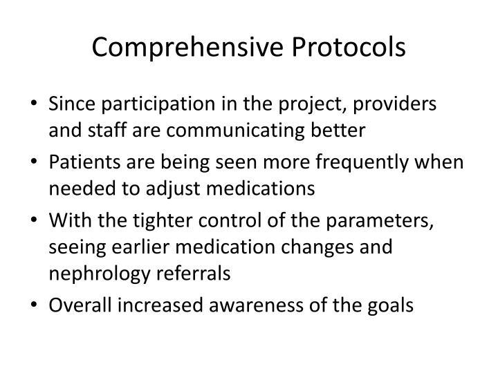 Comprehensive Protocols