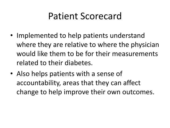 Patient Scorecard