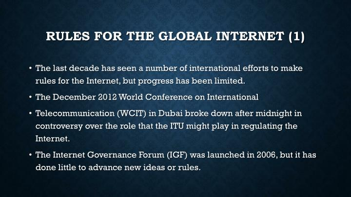 Rules for the Global Internet (1)