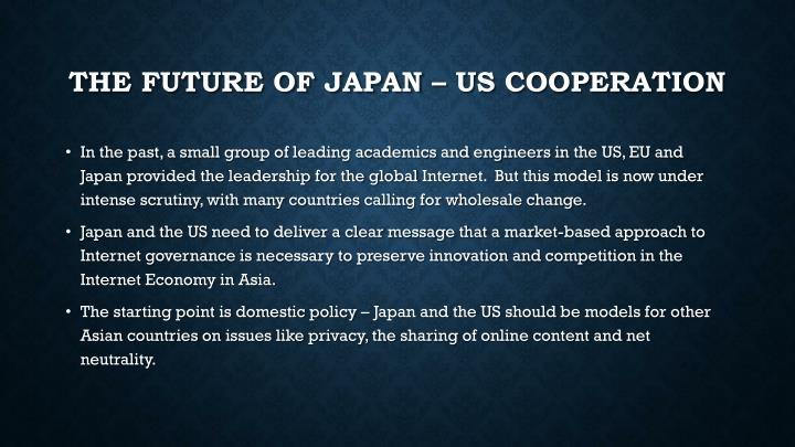 The Future of Japan – US Cooperation