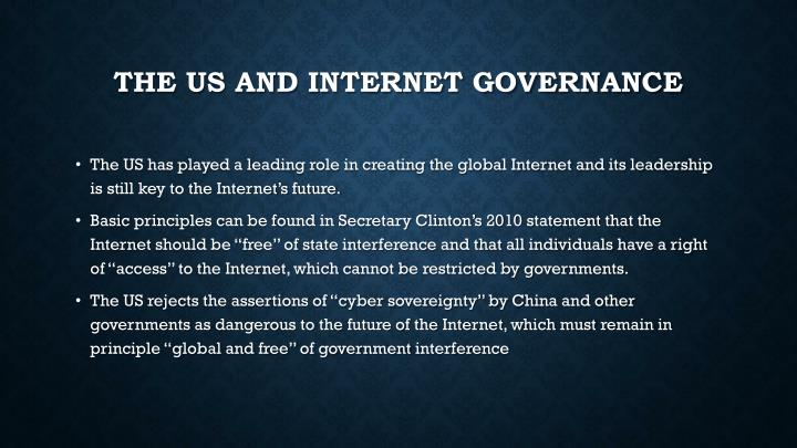 The US and Internet Governance