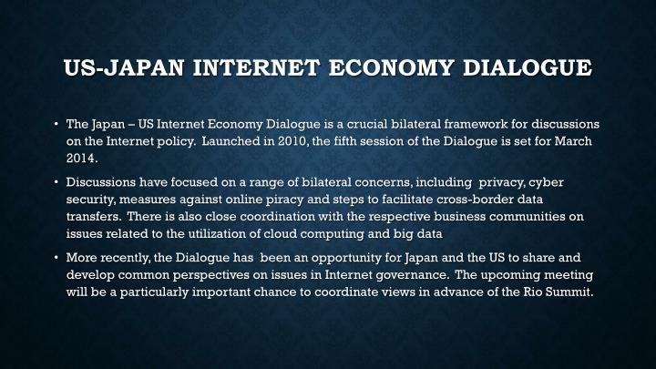US-Japan Internet Economy Dialogue