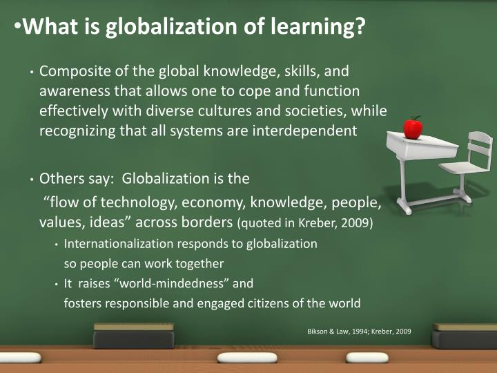 What is globalization of learning
