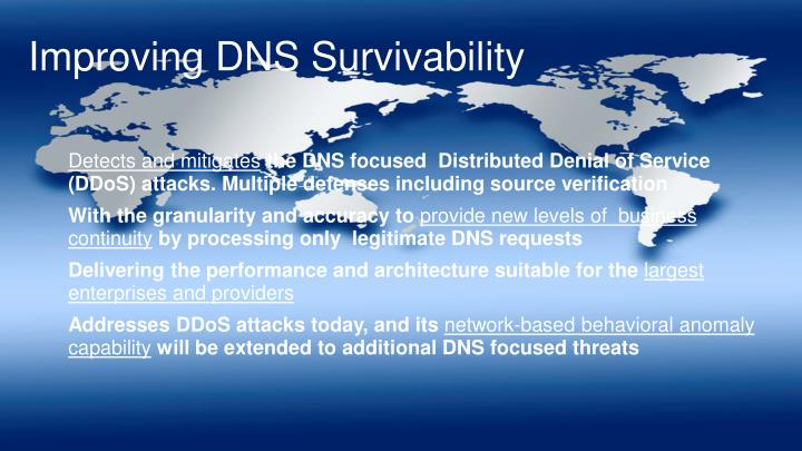 Improving DNS Survivability