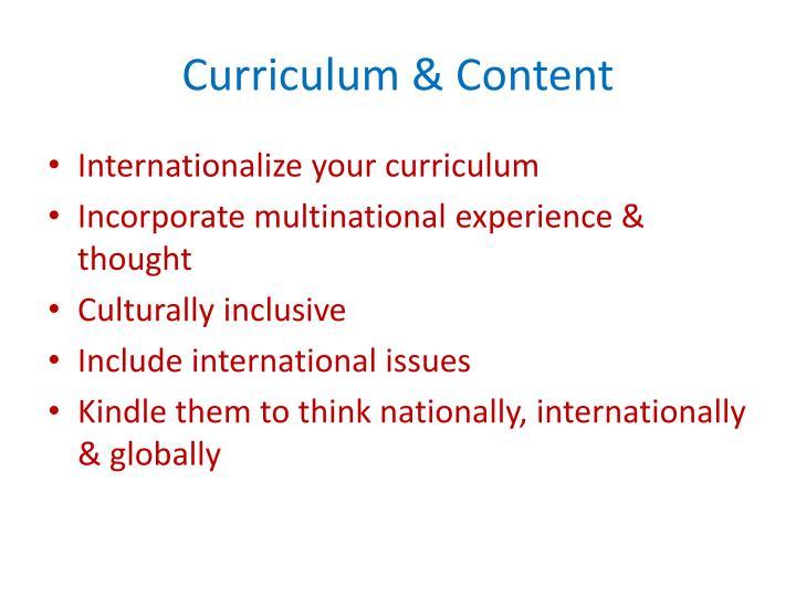 Curriculum & Content