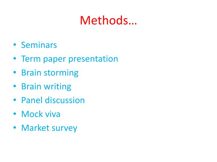Methods…