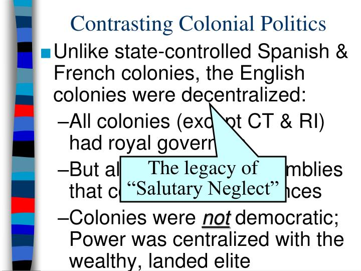 Contrasting Colonial Politics