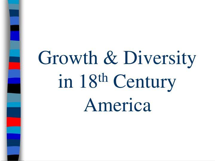 Growth & Diversity