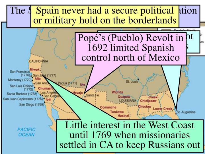 The Spanish Borderlands in 1770