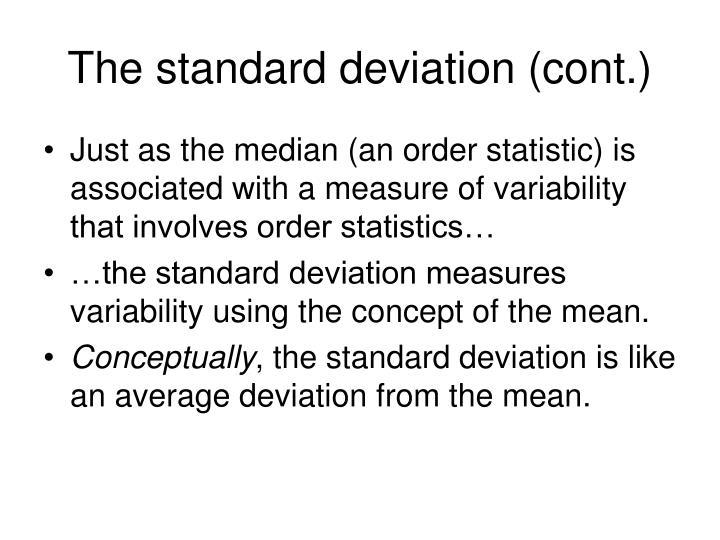 The standard deviation (cont.)