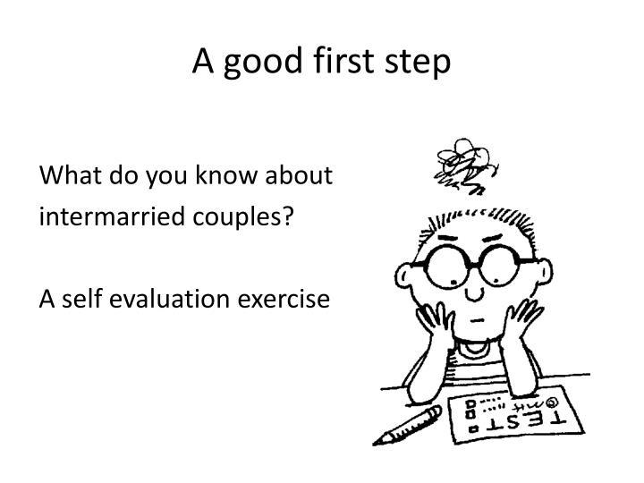 A good first step