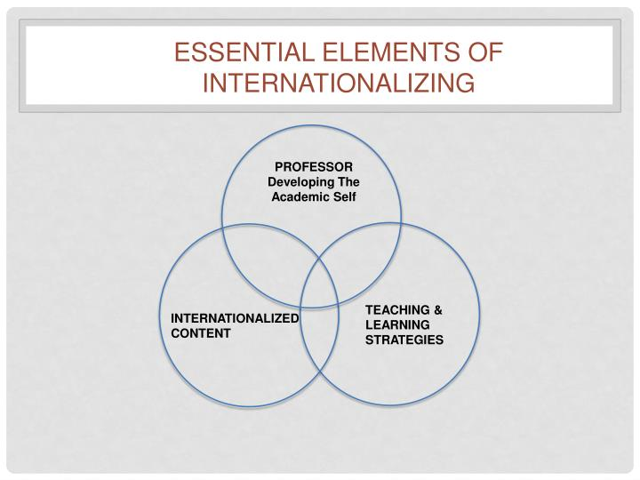 Essential Elements of internationalizing