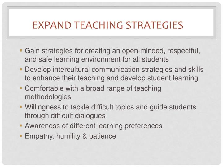 Expand Teaching Strategies