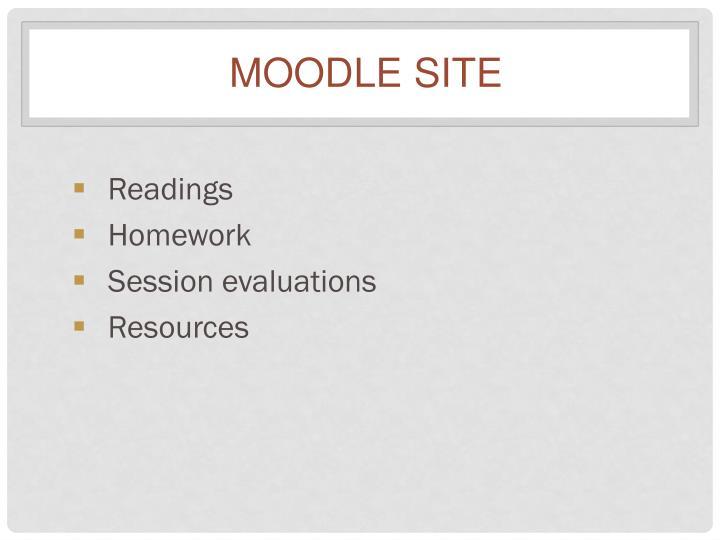 Moodle Site