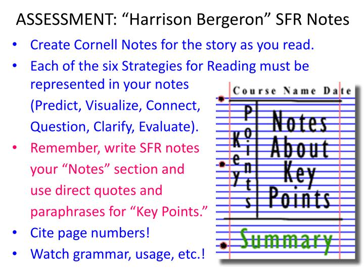"ASSESSMENT: ""Harrison Bergeron"" SFR Notes"