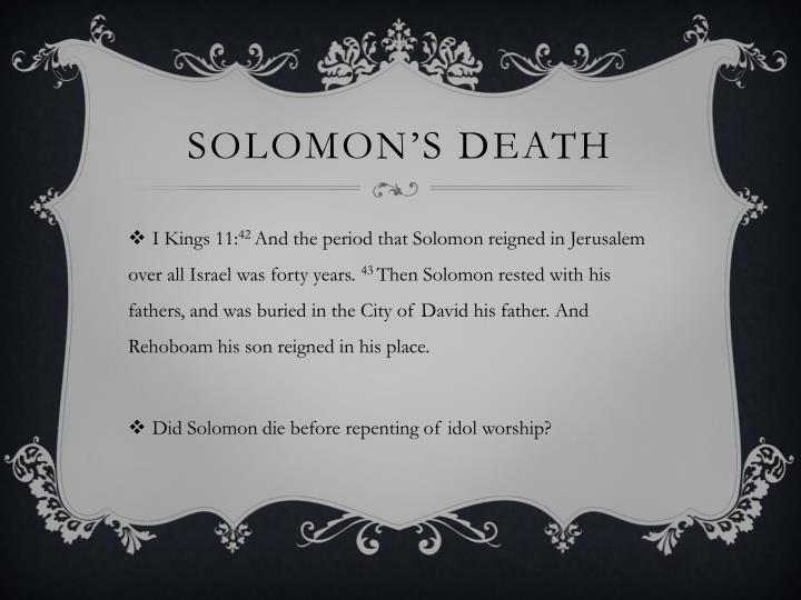 Solomon's Death