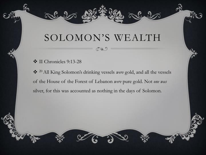 Solomon's Wealth
