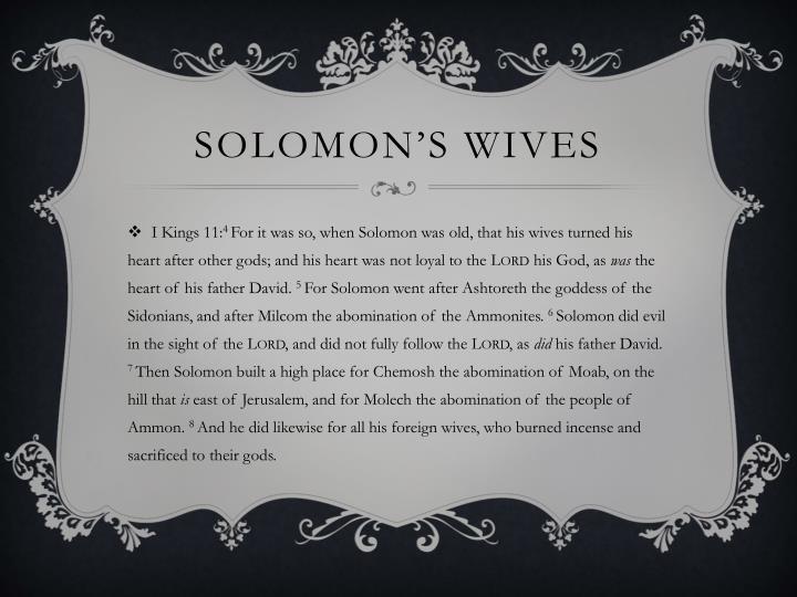 Solomon's wives