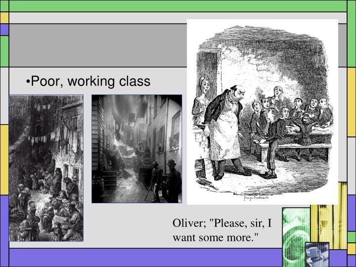 Poor, working class