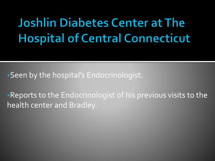 Joshlin Diabetes Center at The Hospital of Central Connecticut