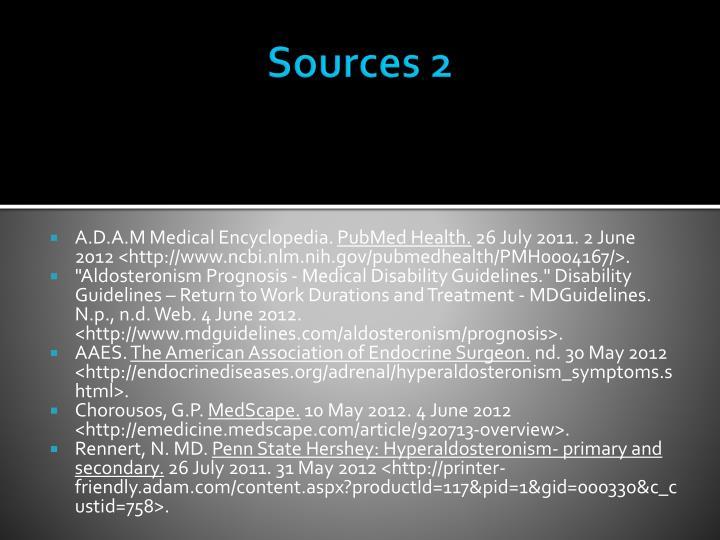 Sources 2