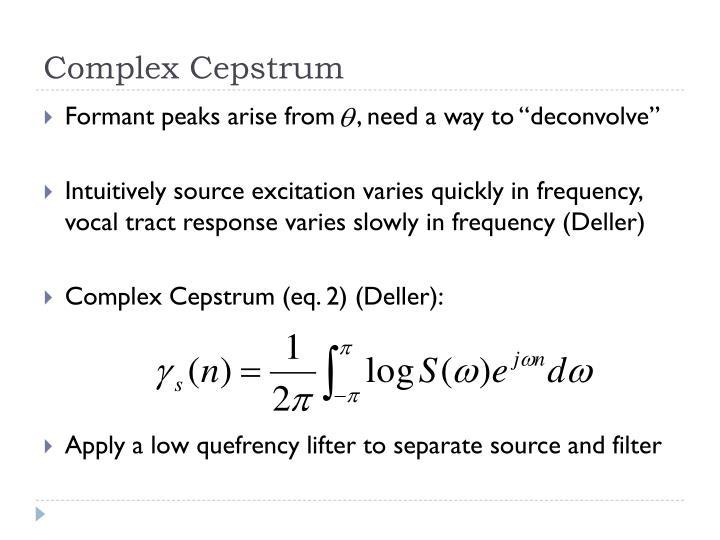 Complex Cepstrum
