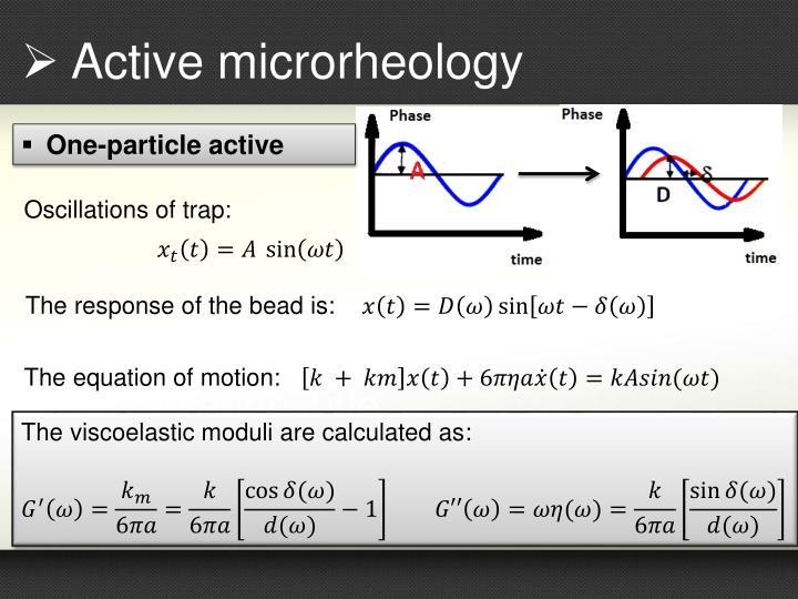 Active microrheology