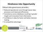 hindrance into opportunity