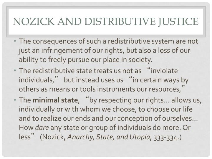 Nozick and Distributive Justice