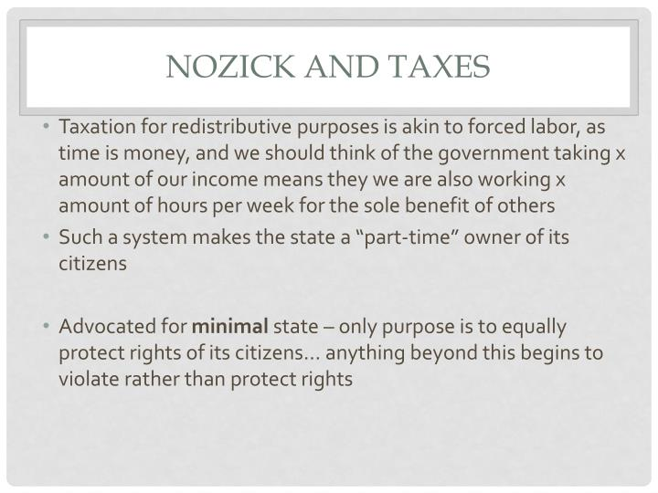 Nozick and taxes