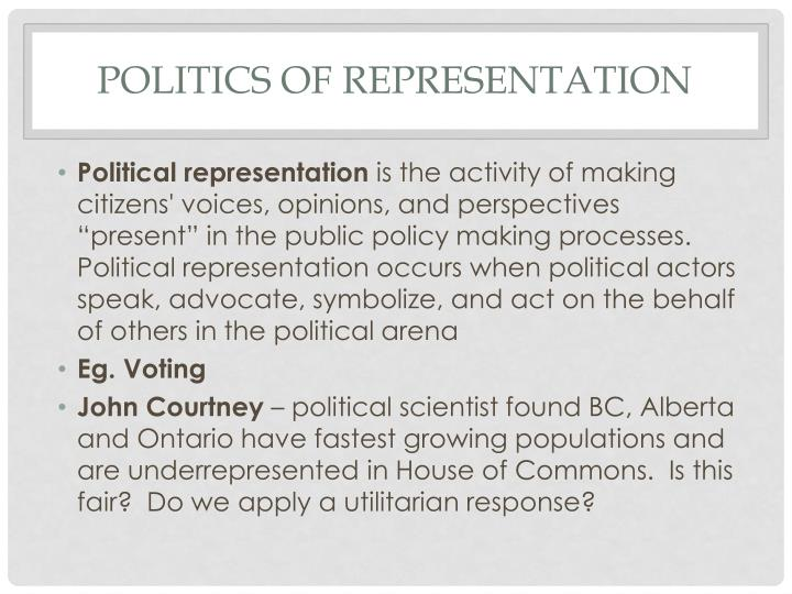 Politics of representation