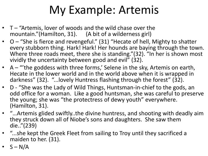 My example artemis