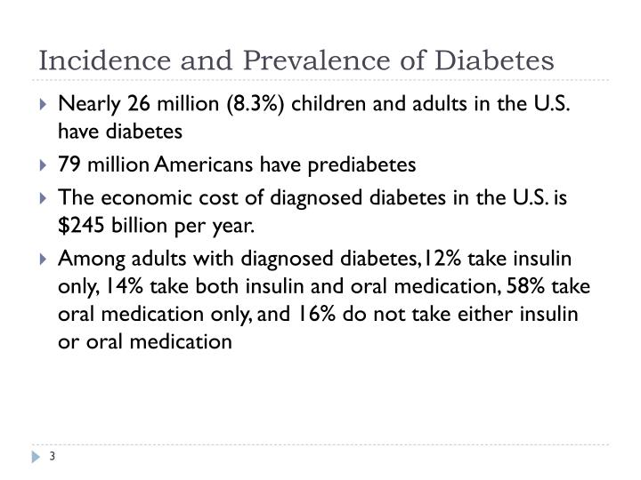 Incidence and prevalence of diabetes