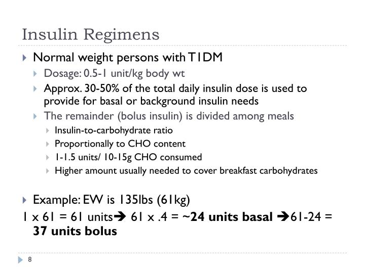 Insulin Regimens