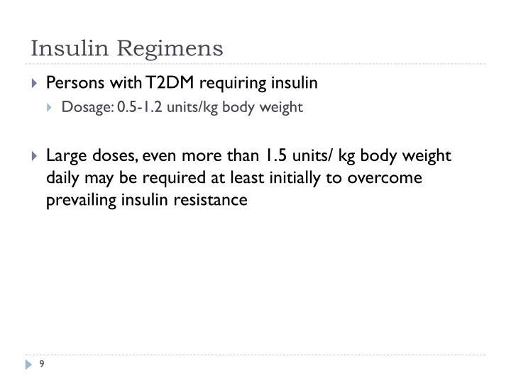 Insulin Regimens